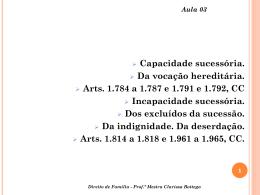 Aula 03 - Professora Mestra Clarissa Bottega