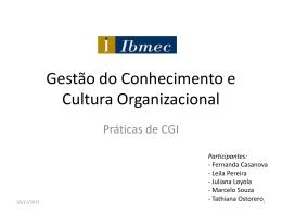 Gestão do conhecimento e cultura organizacional