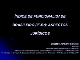 (IF-Br): ASPECTOS JURÍDICOS Eduardo Jannone da