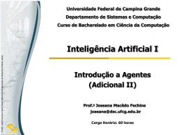 Agentes - Computação UFCG - Universidade Federal de Campina