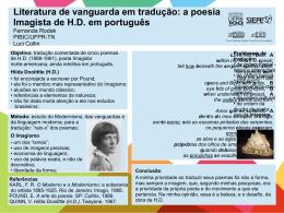 Literatura de vanguarda em tradução: a poesia Imagista de H.D. em