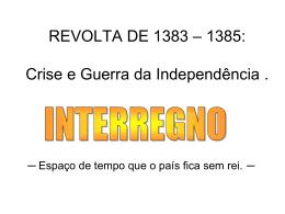 CRISE DE 1383 - 1385
