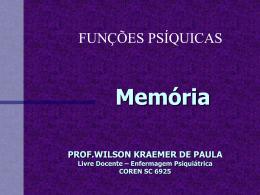 Memória - Wilson Kraemer de Paula