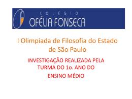 APRESENTAÇÃO OLIMPà ADAS DE FILOSOFIA