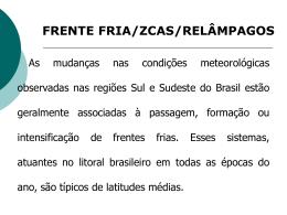 U16 - Frentes e ZCAS