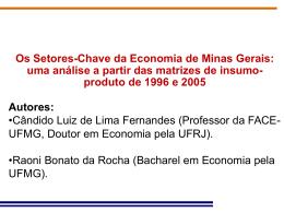 Os Setores-Chave da Economia de Minas Gerais