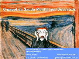 O papel da saúde mental nos desastres