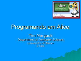 Programming in Alice