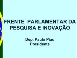 FRENTE PARLAMENTAR DE APOIO A PESQUISA E A