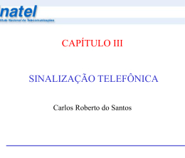 Capítulo III - Sinalização Telefônica