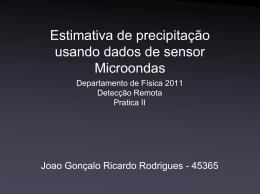 Estimativa de precipitação usando dados de sensor Microondas