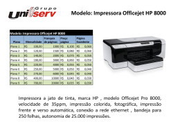 Modelo: Impressora Officejet HP 8000