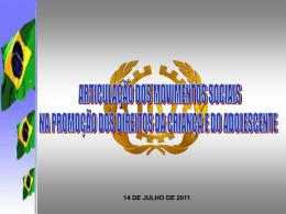 Articulação de movimentos sociais na promoção e defesa