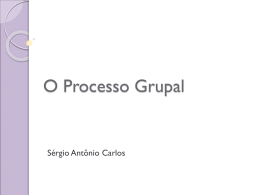 Texto 03 - O processo grupal, Sérgio Carlos