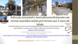 Infecção neonatal e neurodesenvolvimento em recém