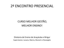 curso mgme_e2 - Diretoria de Ensino