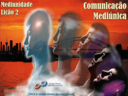 1. Mediunidade - United States Spiritist Council