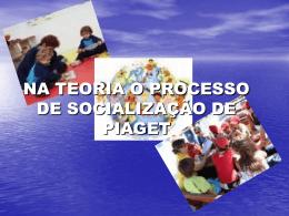O PROCESSO DE SOCIALIZAÇÃO NA TEORIA DE PIAGET