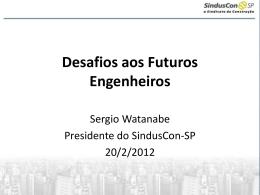 Desafios aos Futuros Engenheiros - Sinduscon-SP