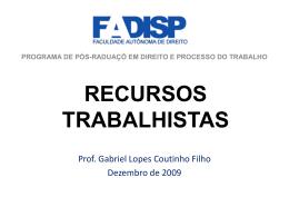 recursos trabalhistas - Gabriel Lopes Coutinho Filho