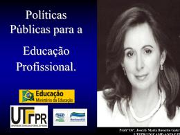 Políticas Públicas para a Educação Profissional - COFOP