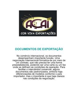 documentos de exportação