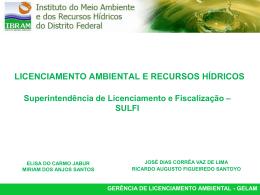 Licenciamento Ambiental IBRAM