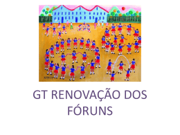 GT Renovaçao - Agenda 21 Comperj