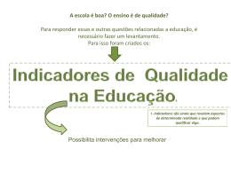 Indicadores de qualidade na educação