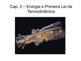 Cap. 2 – Energia e Primeira Lei da Termodinâmica