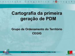 Cartografia da primeira geração de PDM