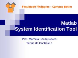 Identificando o sistema (2)