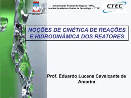 3) Reações de primeira ordem - Universidade Federal de Alagoas