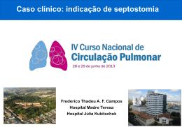 Caso clínico: indicação de septostomia