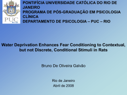 Water Deprivation Enhances Fear Conditioning to