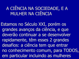 Situação da Mulher na Astronomia Brasileira