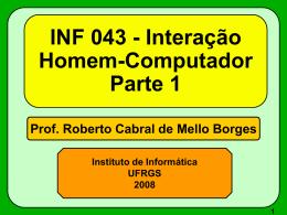 INF043 - Histórico-Filosofias - Instituto de Informática