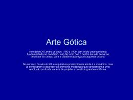 Arte Gótica - Colégio Cor Jesu