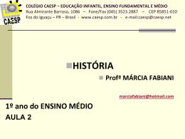 Pré-História Geral (Aula 2)