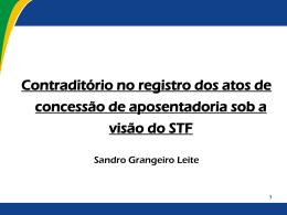 Dr. Sandro Grangeiro Leite - Tribunal de Contas do Distrito Federal