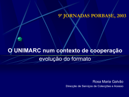 Slides 178 Kb - Biblioteca Nacional de Portugal