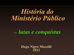 História do Ministério Público