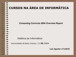 apresenta?o ppt - Universidade da Beira Interior