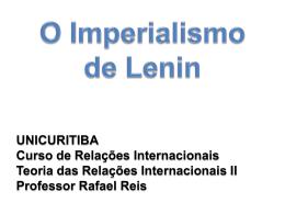 A visão de Lenin