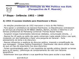 Evolu  ao do MKT Politico - Universidade Fernando Pessoa