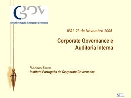 Consulte a apresentação - Instituto Português de Corporate