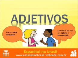 adjetivos - espanhol no brasil