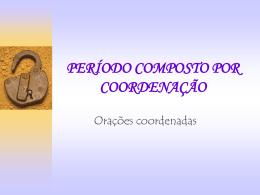 ORAÇÕES COORDENADAS