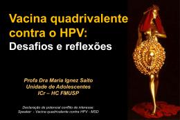 Vacina quadrivalente contra HPV