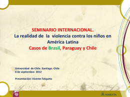 Slide 1 - Universidad de Chile